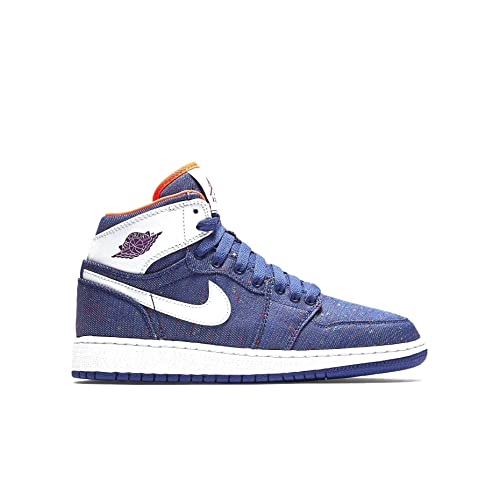 new style 3527e f7f2d Jordan AIR 1 RETRO HIGH GG girls basketball-shoes 332148-411 8.5Y -