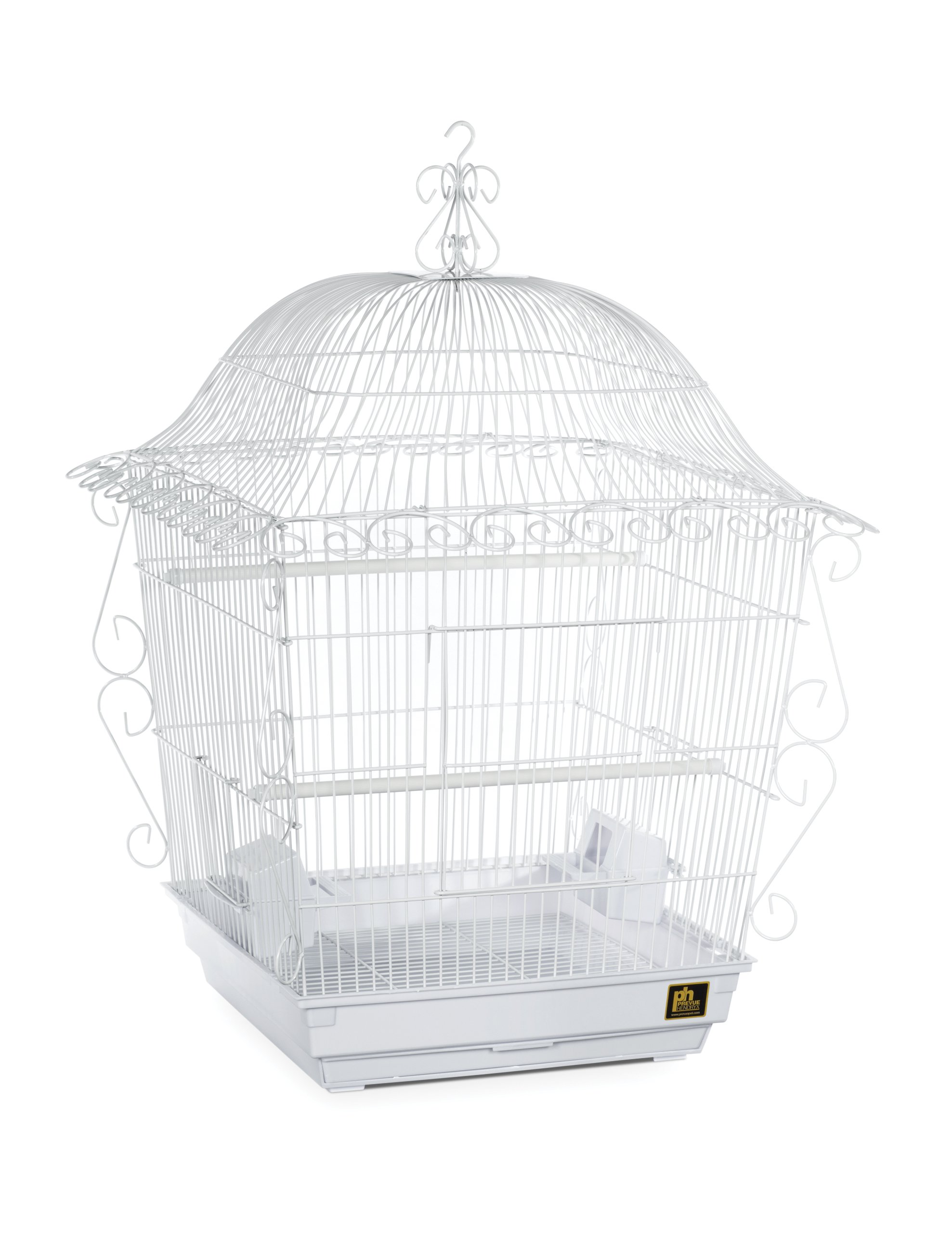 Prevue Pet Products Jumbo Scrollwork Bird Cage 220W White, 18-Inch by 18-Inch by 25-Inch by Prevue Hendryx