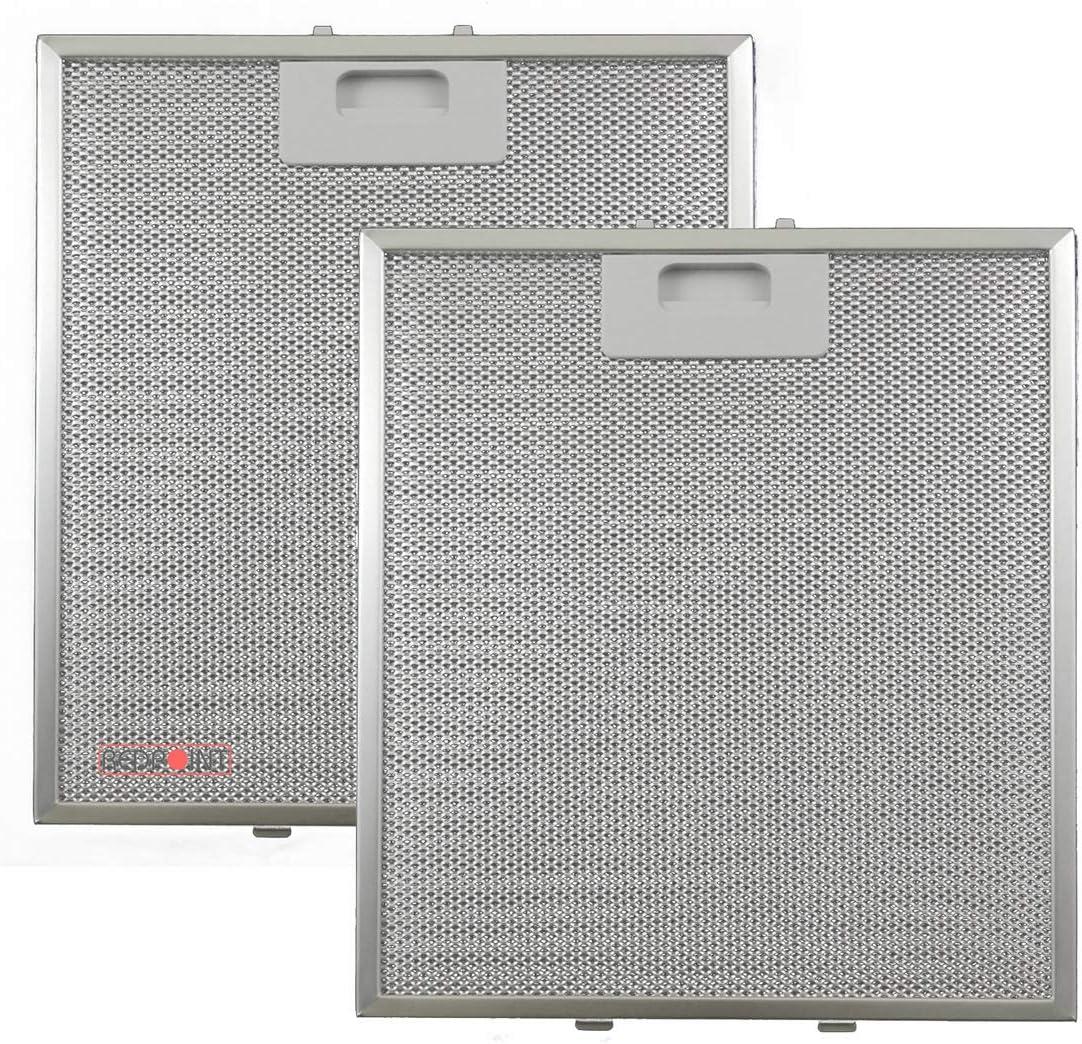 Kit de 2 unidades. Filtros de aluminio para campanas extractoras de 267 x 305 x 9 - Adaptabilidad: