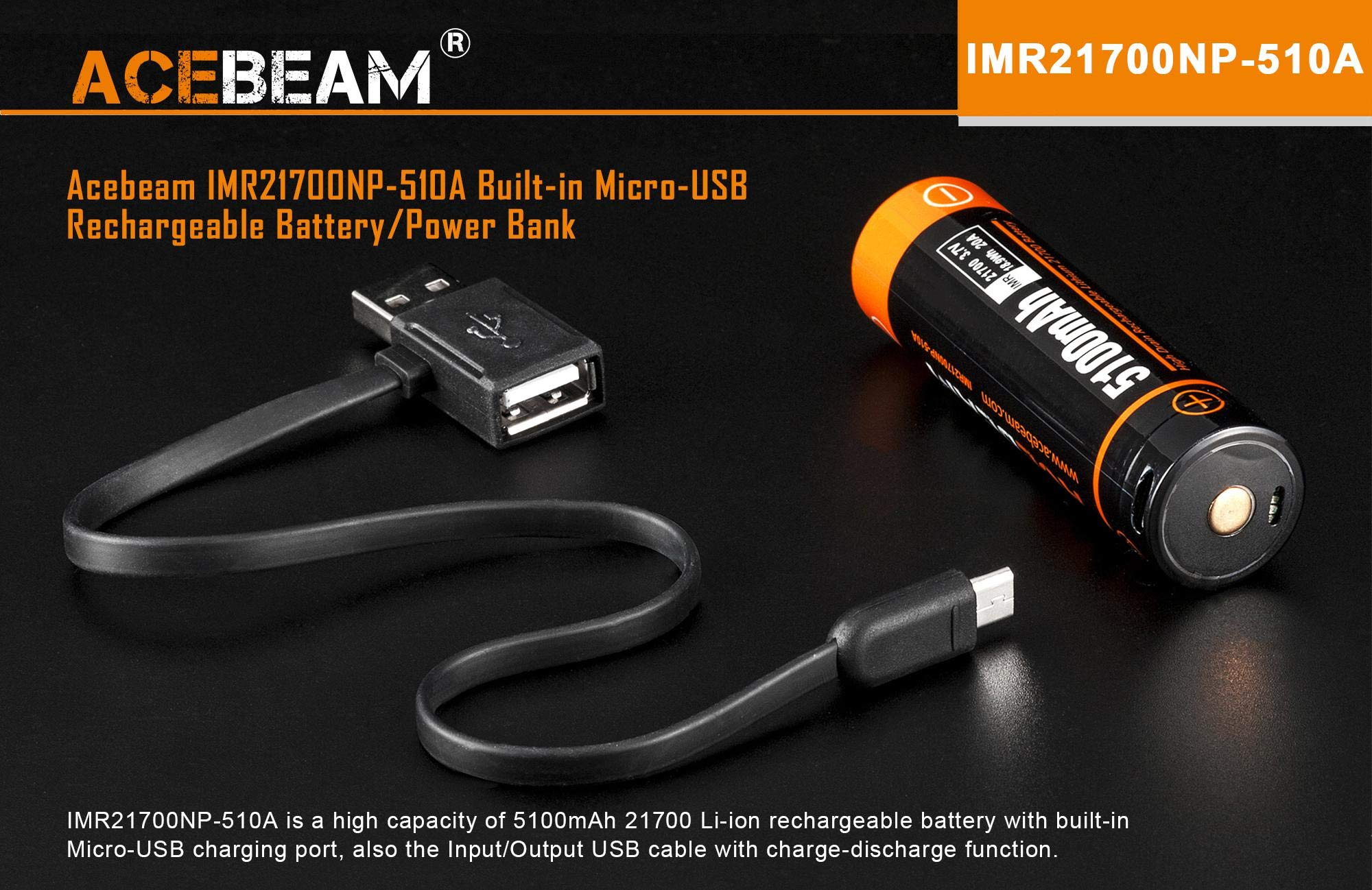 2408m throw Acebeam W30 Long Range LEP Flashlight 500 Lumens CRI90