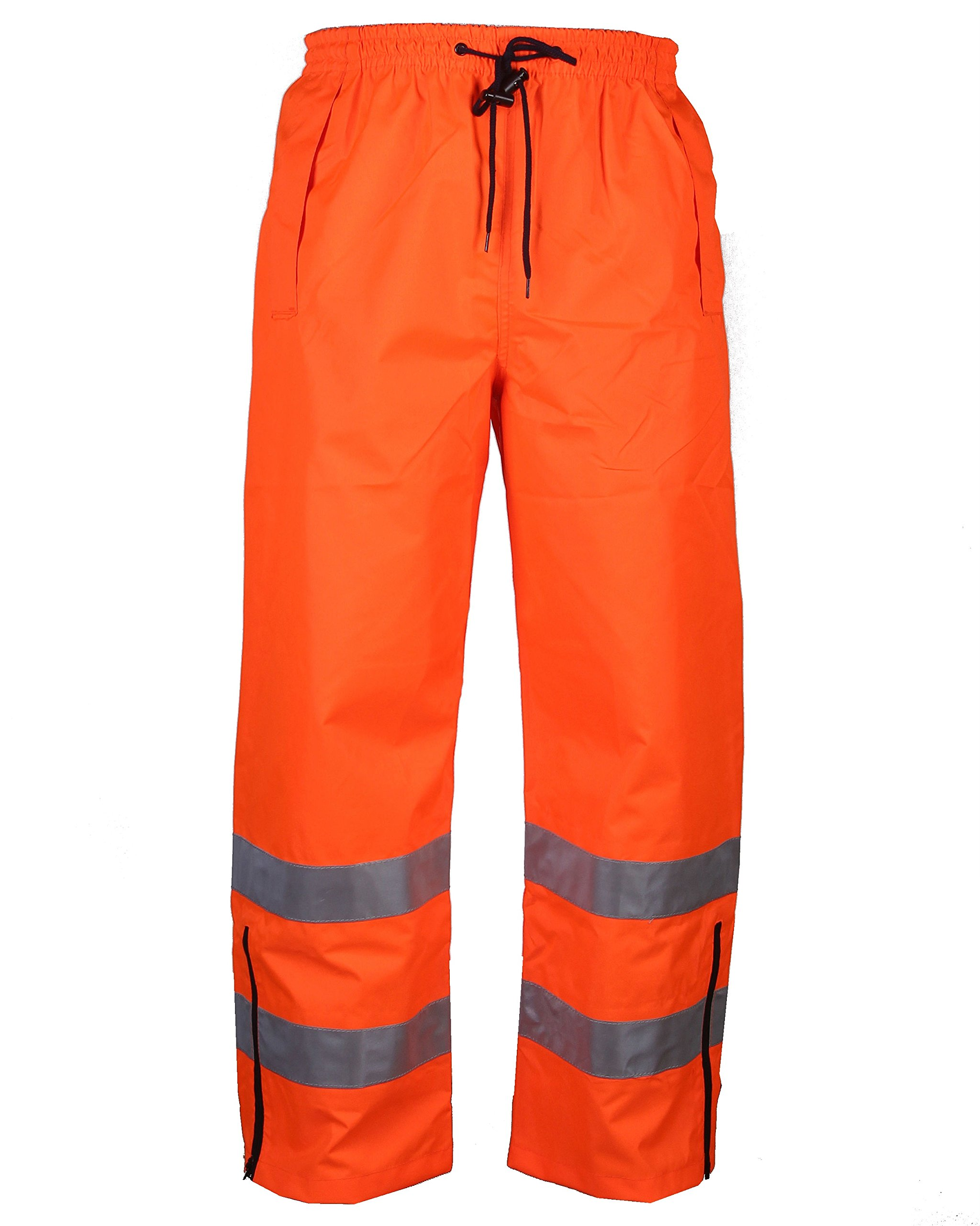 Safety Depot Orange Reflective Class E Safety Draw String Pants Water Resistant High Visibility and Light Weight 738c-3 (5XL)