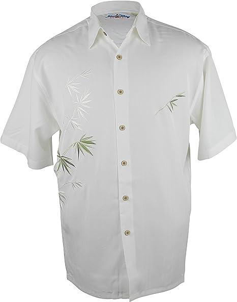 Maui Clothing Company - Camisa de bambú con Bordado para Hombre - Marfíl - Large: Amazon.es: Ropa y accesorios