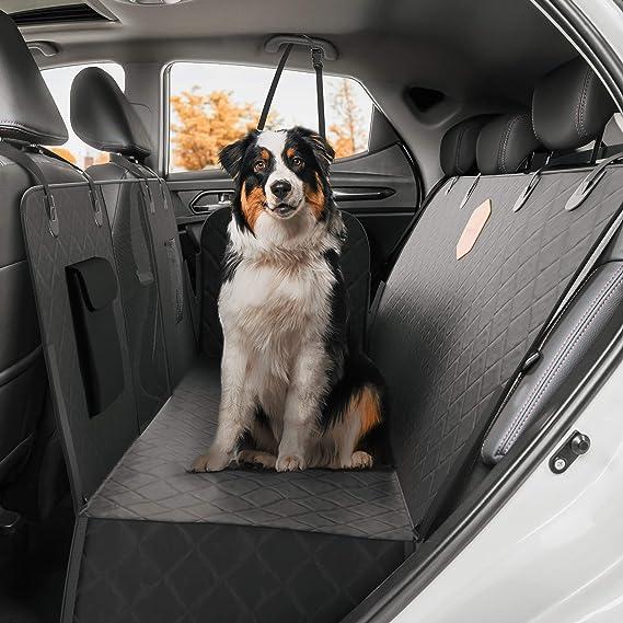 Rudelkönig Autoschondecke Für Hunde Wasserabweisende Hundedecke Für Auto Rückbank Mit Seitenschutz Und Sichtfenster Pflegeleichte Universal Schondecke Für Den Rücksitz Haustier