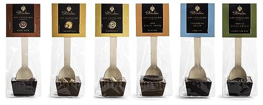 struben trinkschokolade am stiel collection geschenk set von 6 stck milch und dunkle kuvertreschokolade - Kchen Mit Weien Schrnken Und Dunklen Bden
