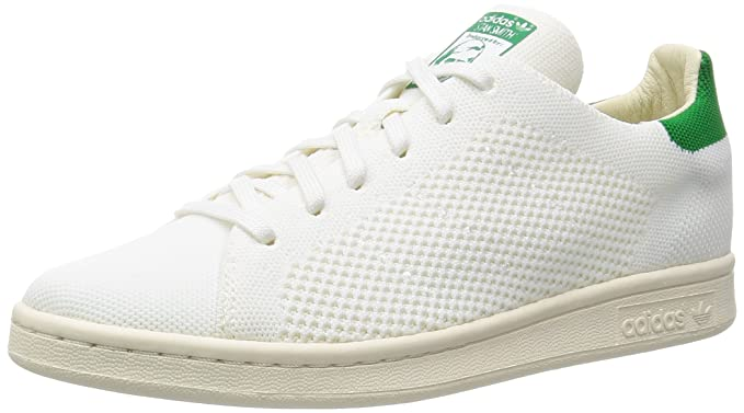 économiser 41816 e0208 Adidas Stan Smith Primeknit Homme Baskets Mode Blanc, blanc vert, 37 1/3