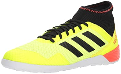503343821 adidas Men's Predator Tango 18.3 Indoor Soccer Shoe, Yellow/Black/Solar red,