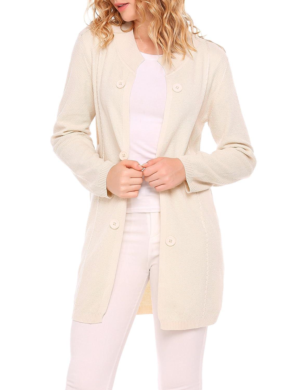 932fbdf15c Zeagoo Womens Open Front Long Sleeve Knit Sweater Cardigan at Amazon Women s  Clothing store