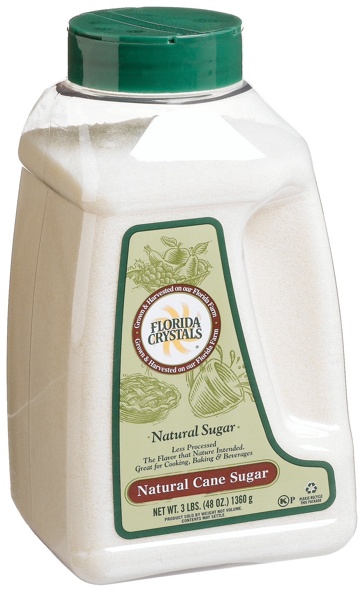 Florida Crystals 33378 Florida Crystals Natural Cane Sugar Jug -1x48 Oz