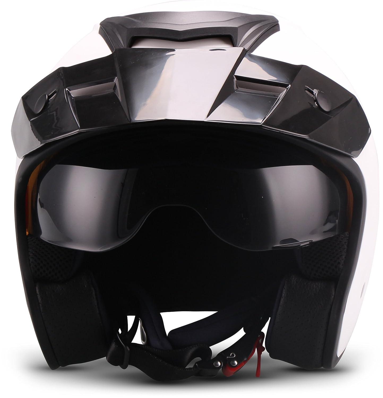 """Schwarz 57-58cm Soxon  S77 /""""Matt Black/"""" Jet-Helm  Motorrad-Helm Bobber Roller Scooter-Helm Chopper Mofa  ECE zertifiziert  Visier  Extra kleine Helmschale  Click-n-Secure Verschluss  M"""