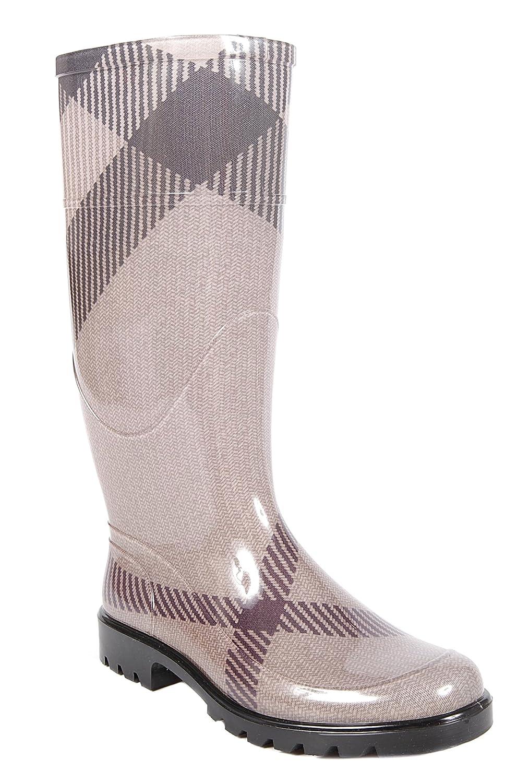 Regen Stiefel Gummi Boots Burberry Damen Grau vm0N8nwO