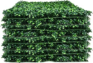 12 Pieces Artificial Greenery Mat UV Protection Boxwood Hedge Panels Garden Yard Wall Screen Home Decor (12 Packs)