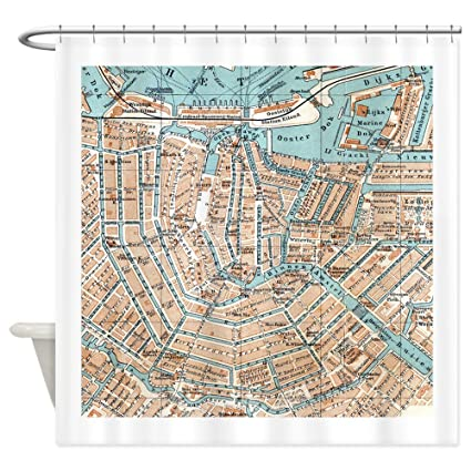 Amazon CafePress Vintage Map Of Amsterdam 1905 Shower Curtain