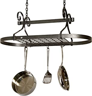 product image for Enclume Decor Oval, Ceiling Pot Rack, Hammered Steel