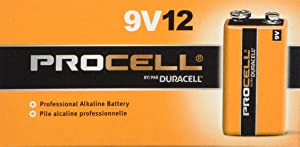 Duracell Procell 9 Volt Batteries,12 Count Pack of 2
