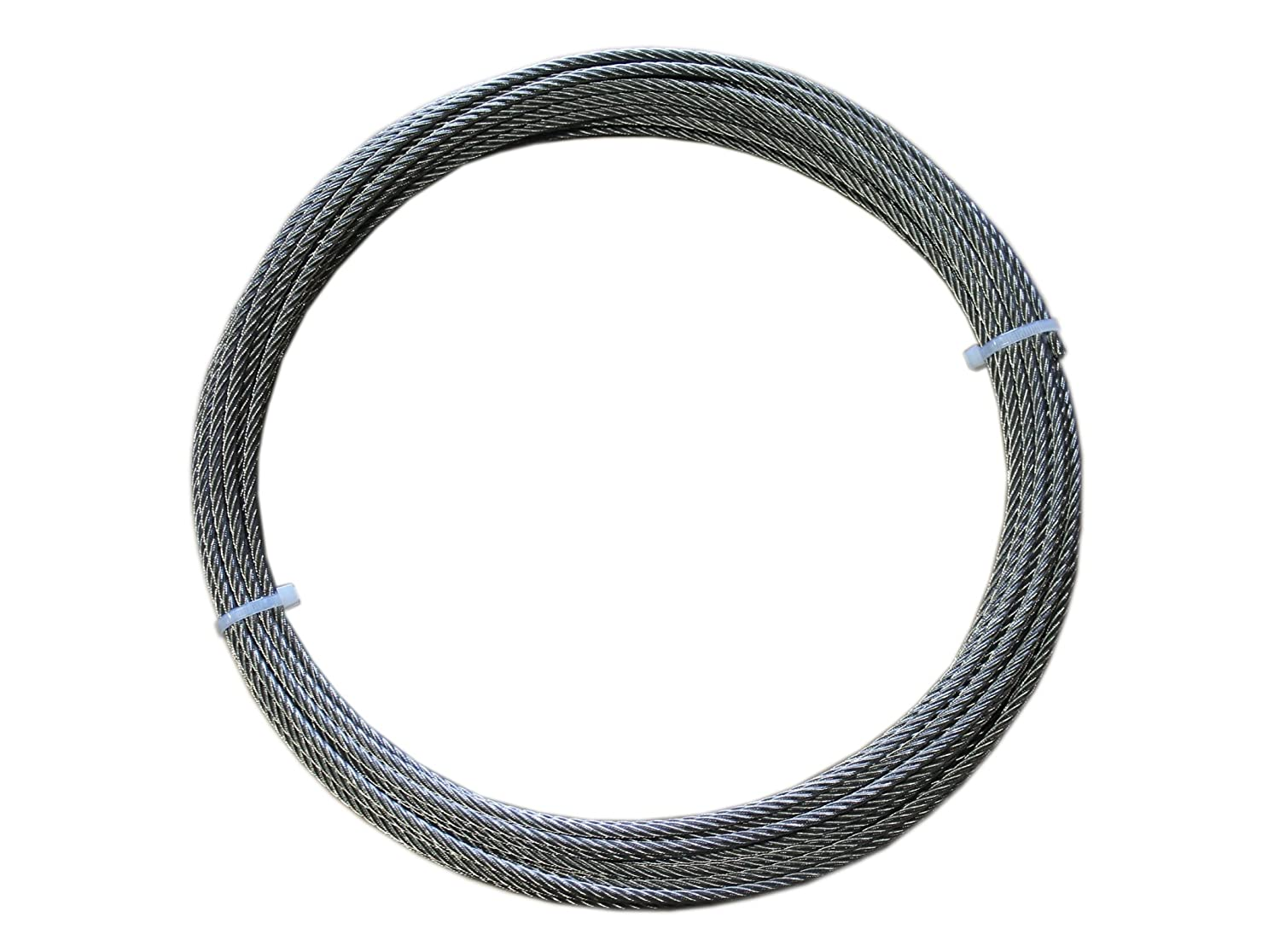 Loos Stainless Steel 316 Wire Rope, 7x19 Strand Core, 1/4' Bare OD, 100' Length, 4900 lbs Breaking Strength 1/4 Bare OD 100' Length Loos & Co SZ084XXXX-0100C CA00K585