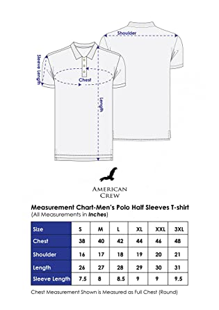 American Crew Men S Cotton And Polyester Blend Polo T Shirt
