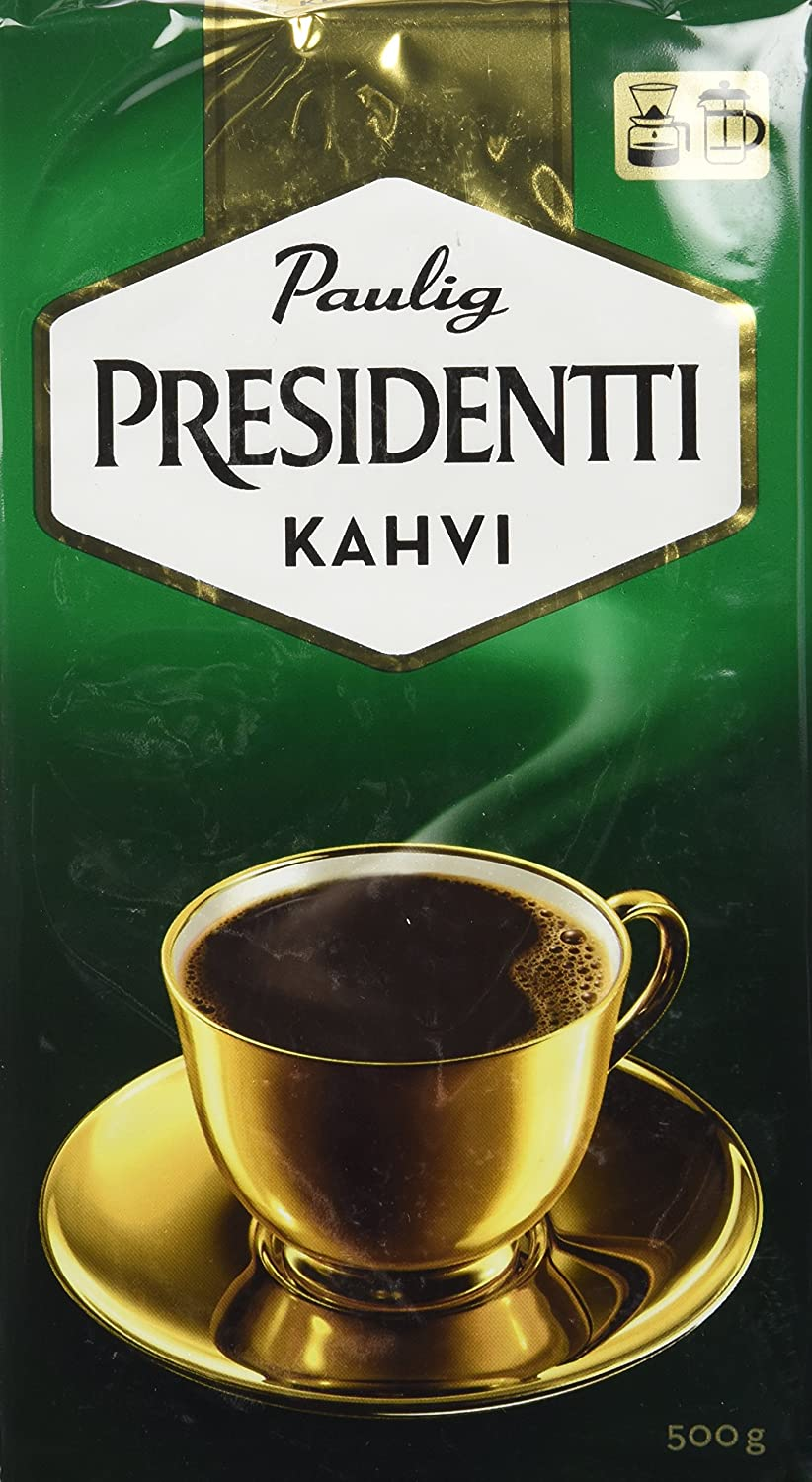 Paulig Presidentti Coffee Imported from Finland