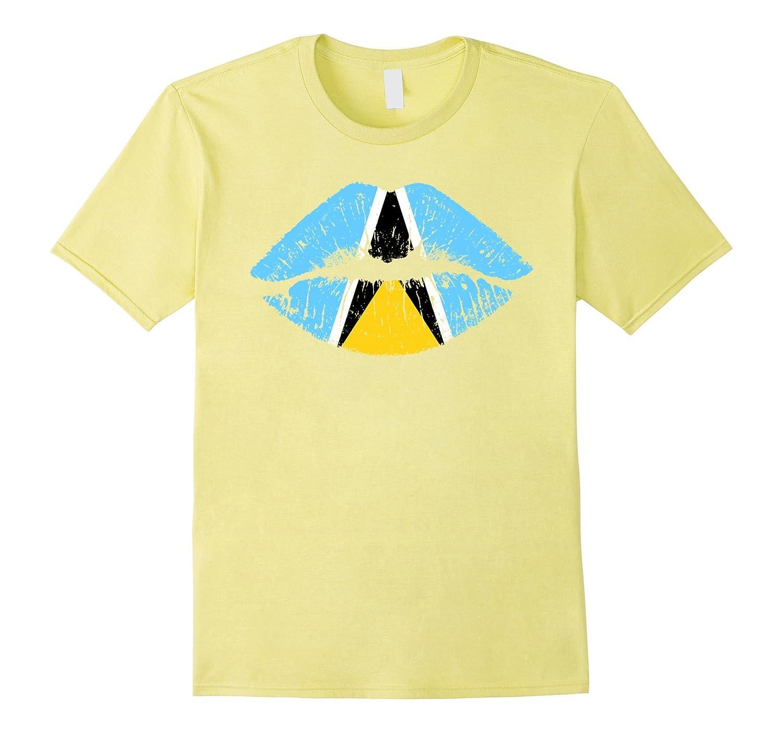 84464e598 Saint Lucia flag kiss funny gifts Tshirts-TJ – theteejob