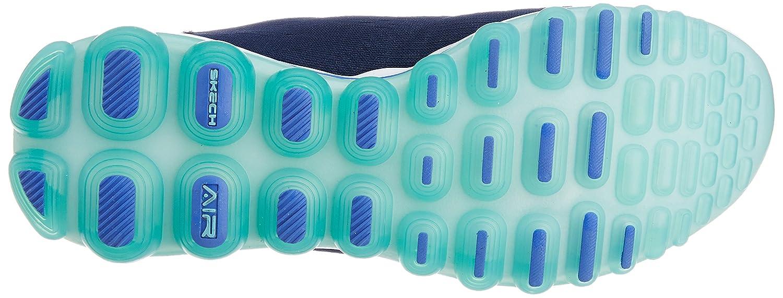 Skechers Sport Women's Skech Air Run High Fashion Sneaker B00MXVHCXM 6 B(M) US|Navy Mesh/Light Blue Trim