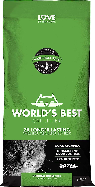 World's Best Cat Litter, Clumping Litter Formula, 28-Pounds: Pet Supplies
