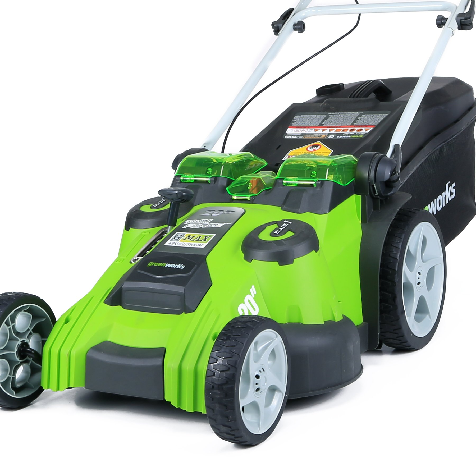 Greenworks 20-Inch 40V Twin Force Cordless Lawn Mower, 4.0 AH & 2.0 AH Batteries Included 25302 by Greenworks (Image #10)