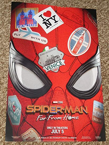 Amazon com: Spider-Man Far from Home Poster 11x17 Inch Promo Movie