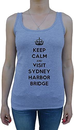 Keep Calm And Visit Sydney Harbor Bridge Mujer De Tirantes Camiseta Gris Todos Los Tamaños Women's T...