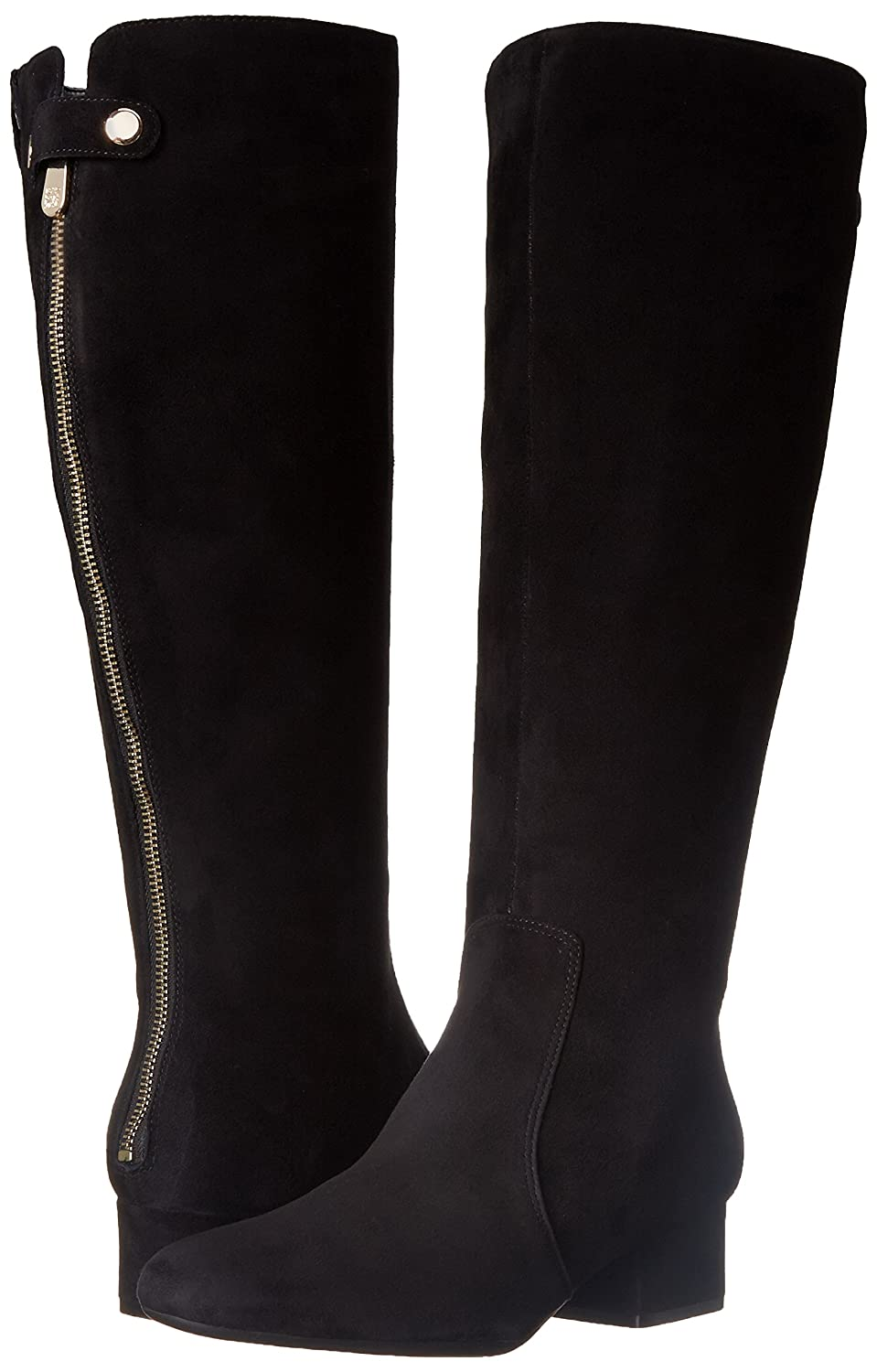 Amazon.com | Anne Klein Women's Camdenw Suede Knee High Boot, Black, 6.5 M  US | Knee-High