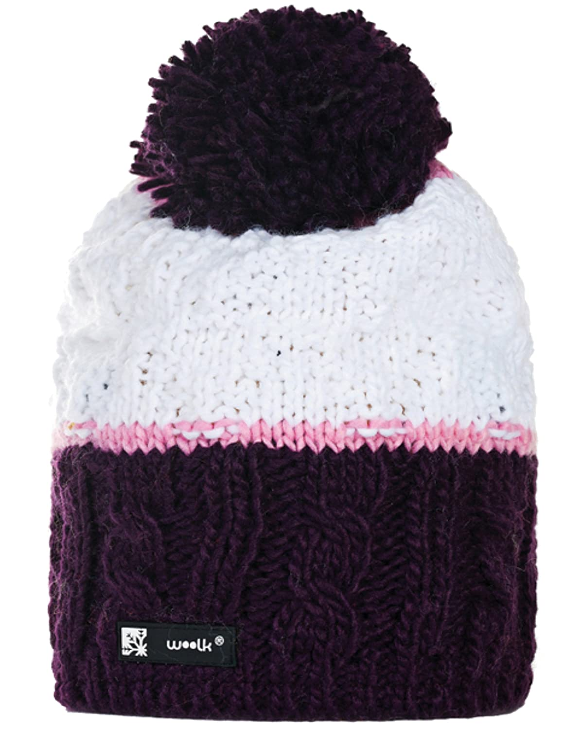 17f99853 4sold Unisex Men's Women's Girls Winter Hat Wool Knitted Beanie Fleece with  Pom Pom Cap Ski Snowboard Hats Bobble