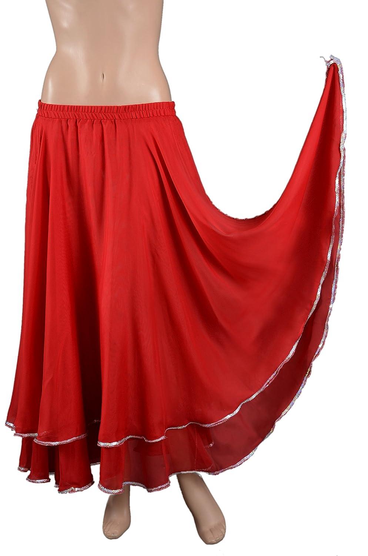 Falda danza oriental - del vientre falda de baile - tamaño S/M ...