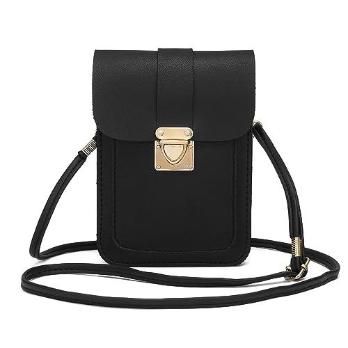 5089b025ca96 WOZEAH Crossbody Purse And Handbags Mini Cellphone Pouch Wallet Bag (black2)