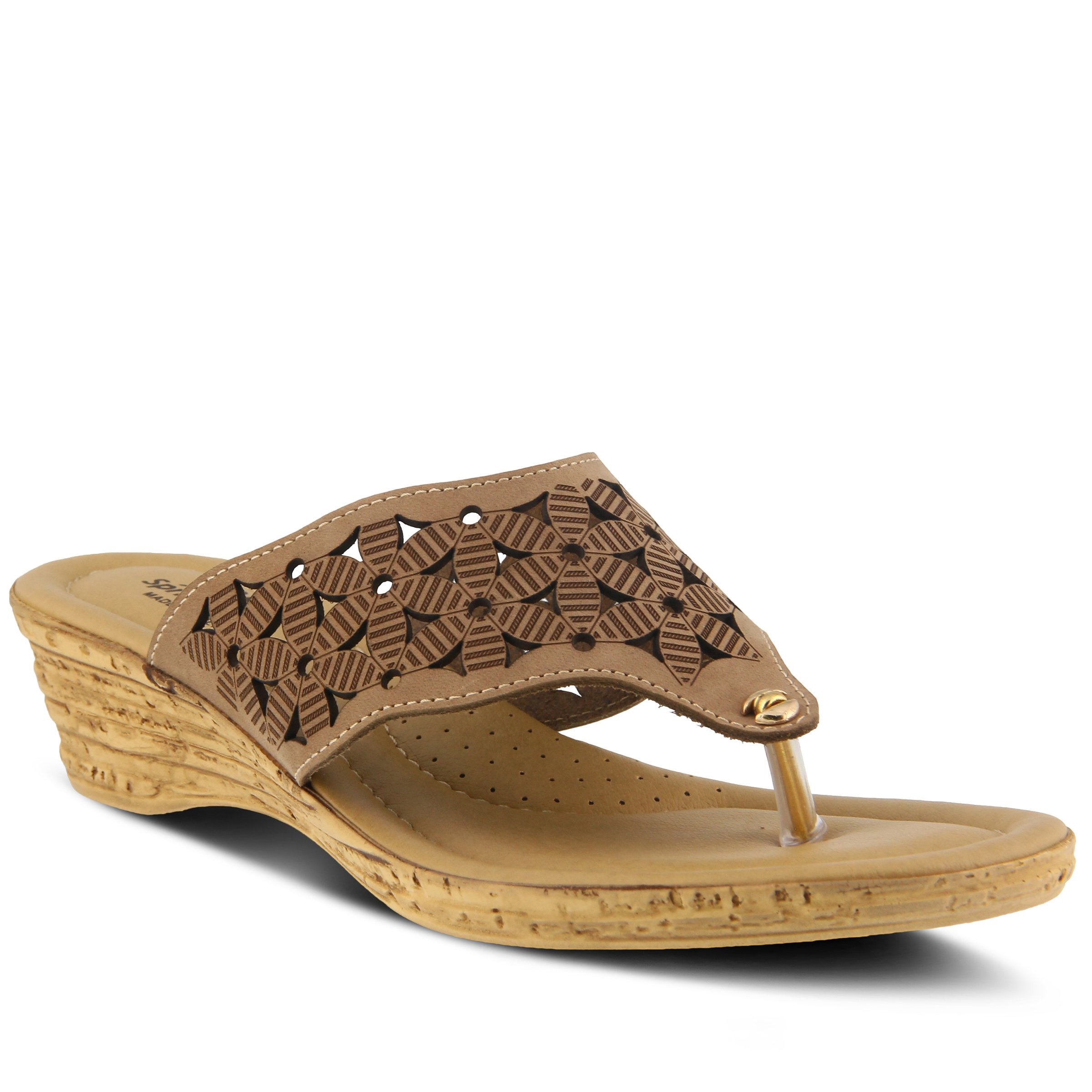 Spring Step Women's Style Tiffany Beige EURO Size 38 Leather Sandal
