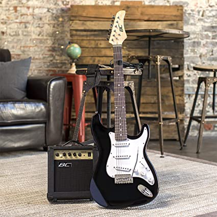 Amazon.com: Best Choice Products 39in Full Size Beginner Electric Guitar Starter Kit w/ Case, Strap, 10W Amp, Tremolo Bar - Black: Musical Instruments