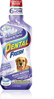 product image for Dental Fresh Water Additive – Advanced Plaque and Tartar Formula for Dogs – Clinically Proven, Add to Pet's Water Bowl to Whiten Teeth, Eliminate Bad Breath and Improve Oral Health (17oz)