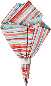 C&F Home Laguna Breeze Reversible Cotton Machine Washable Single Napkin 20x20 One Size Blue
