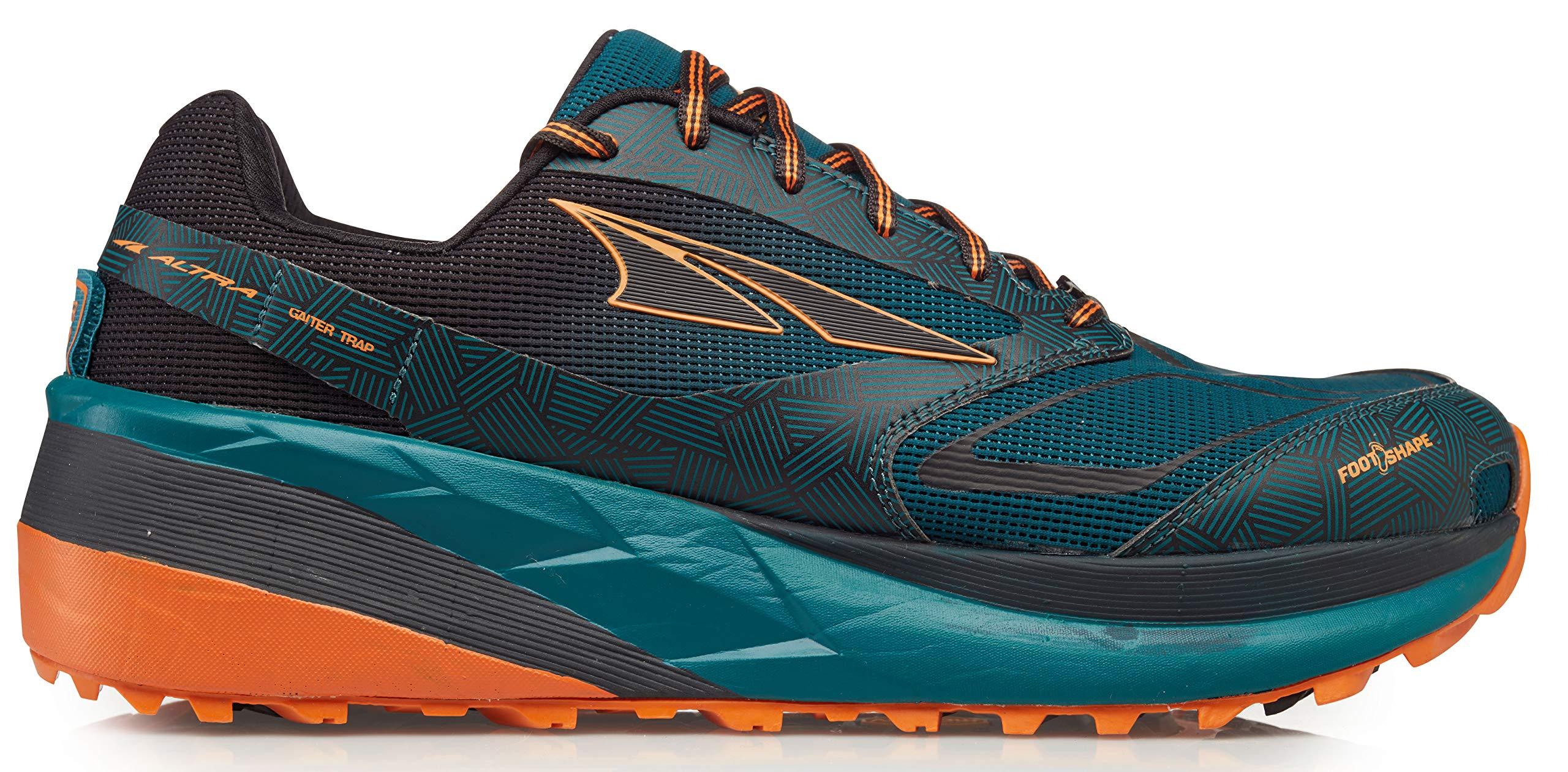 Altra Men's Olympus 3.5 Trail Running Shoe, Green/Orange - 12 M US by Altra
