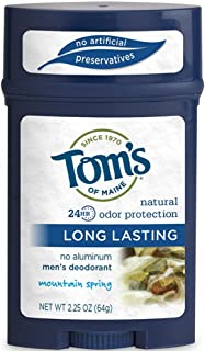 product image for Tom's of Maine Natural Long Lasting Men's Deodorant, Mountain Spring 2.25 oz (Pack of 7)
