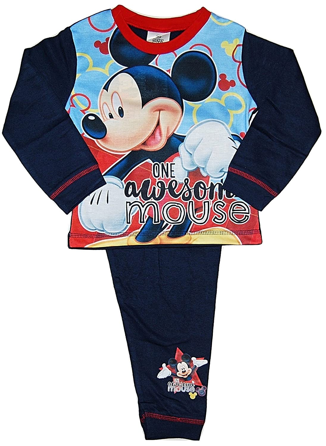 Boys Disney Mickey Mouse Pyjamas Awesome 12-18 18-24 Months 2 3 4 Years