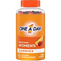 One A Day Women's VitaCraves Multivitamin Gummies, Supplement with Vitamin A, Vitamin C, Vitamin D, Vitamin E and Zinc for Immune Health Support*, Calcium & More, 170 Count