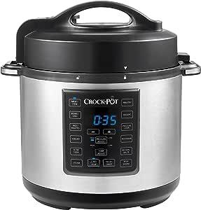 Crock-Pot Express Crock Multi-Cooker | Slow Cooker, Sauté, Pressure Cooker, Rice Cooker & Food Steamer | 5.7L (4-6 People) | Removable Non-Stick Bowl | CPE200