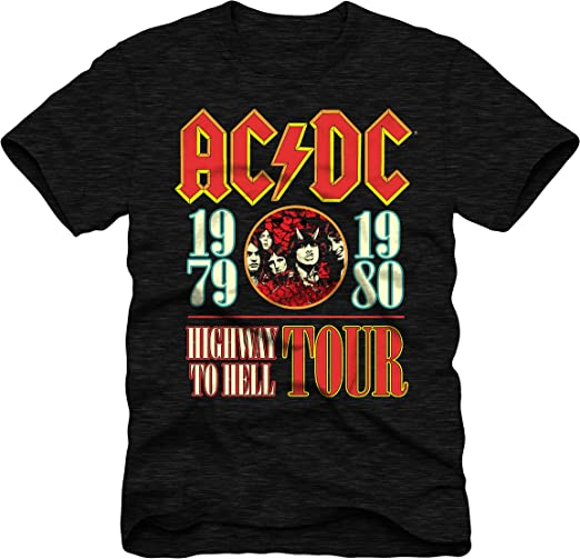 Ac//Dc Mens T-Shirt About To Rock