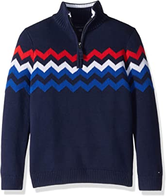 Tommy Hilfiger Boys Long Sleeve Mock Neck Pullover Sweater