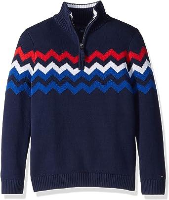 Tommy Hilfiger Boys Long Sleeve Mock Neck Pullover Sweater