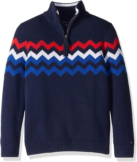 12-14 Royal blue Tommy Hilfiger 1985 zip neck pullover cotton sweater  Kids Medium Tommy Hilfiger zip high neck cotton pullover