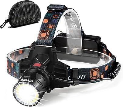 Waterproof COB Headlight Bright Head Torch Outdoor Climbing Headlamp Flood Light