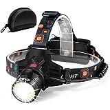 Cobiz Work Head Light Rechargeable Headlamp-6000 Lumen 2 Function Merge(COB Flood&Spot Light),10 Hours Long Lasting.Xtreme Br