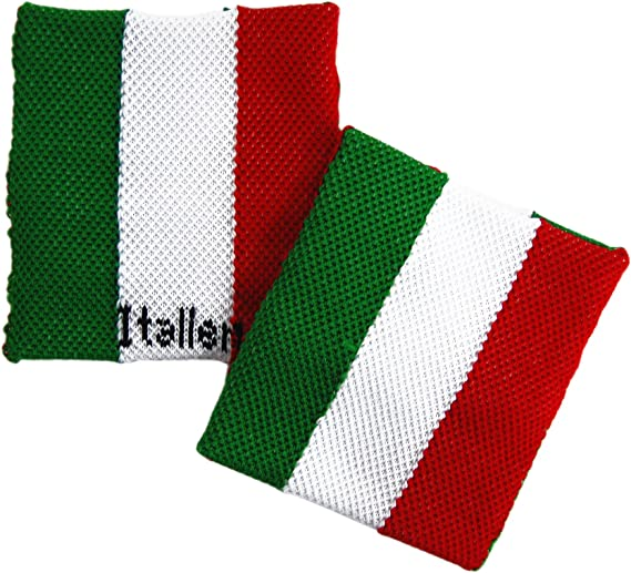 sportfanshop24 Schwei/ßband//Armband//Handgelenkband ITALIEN 1 St/ück sehr gute Qualit/ät