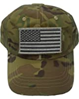 Multi Cam Military Tactical Operators Cap with USA Flag Patch
