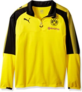PUMA Mens BVB 1/4 Training Top with Sponsor Logo