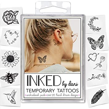 Amazon Com Inked By Dani Temporary Tattoo Designs Embroidered